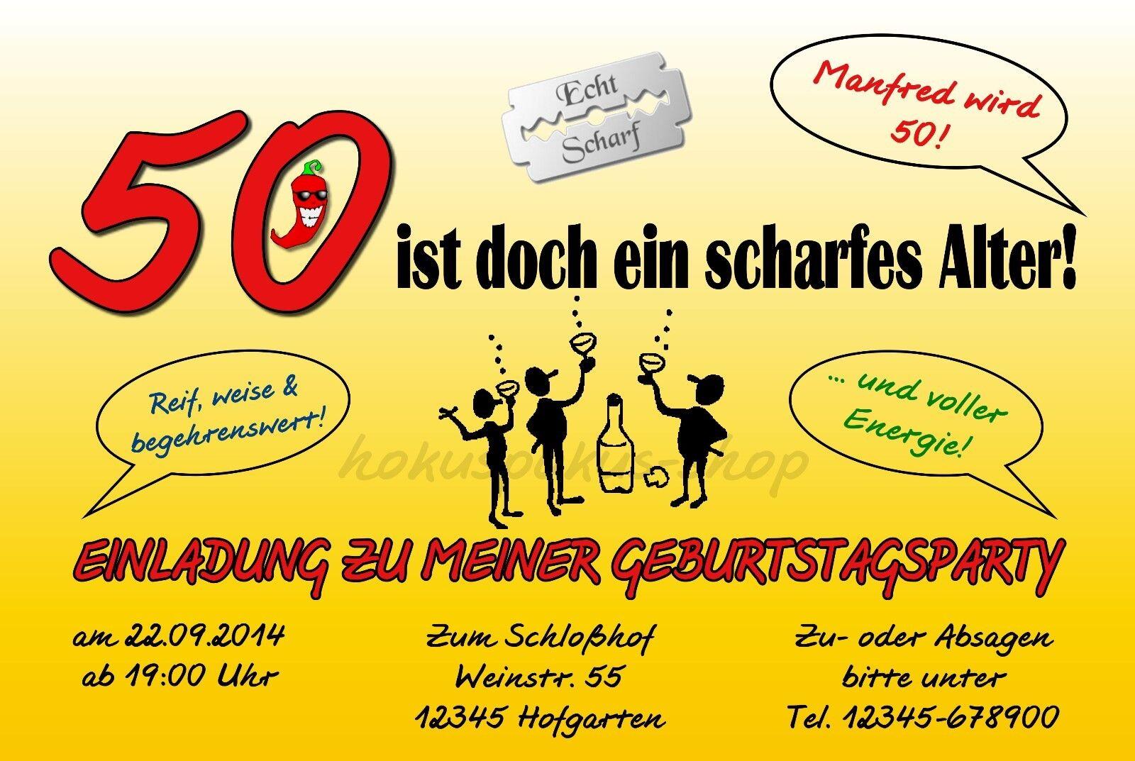 50 Geburtstag Karte Lustig.Scharfes Einladungskarten Lustige 50 Geburtstag Alter Alter