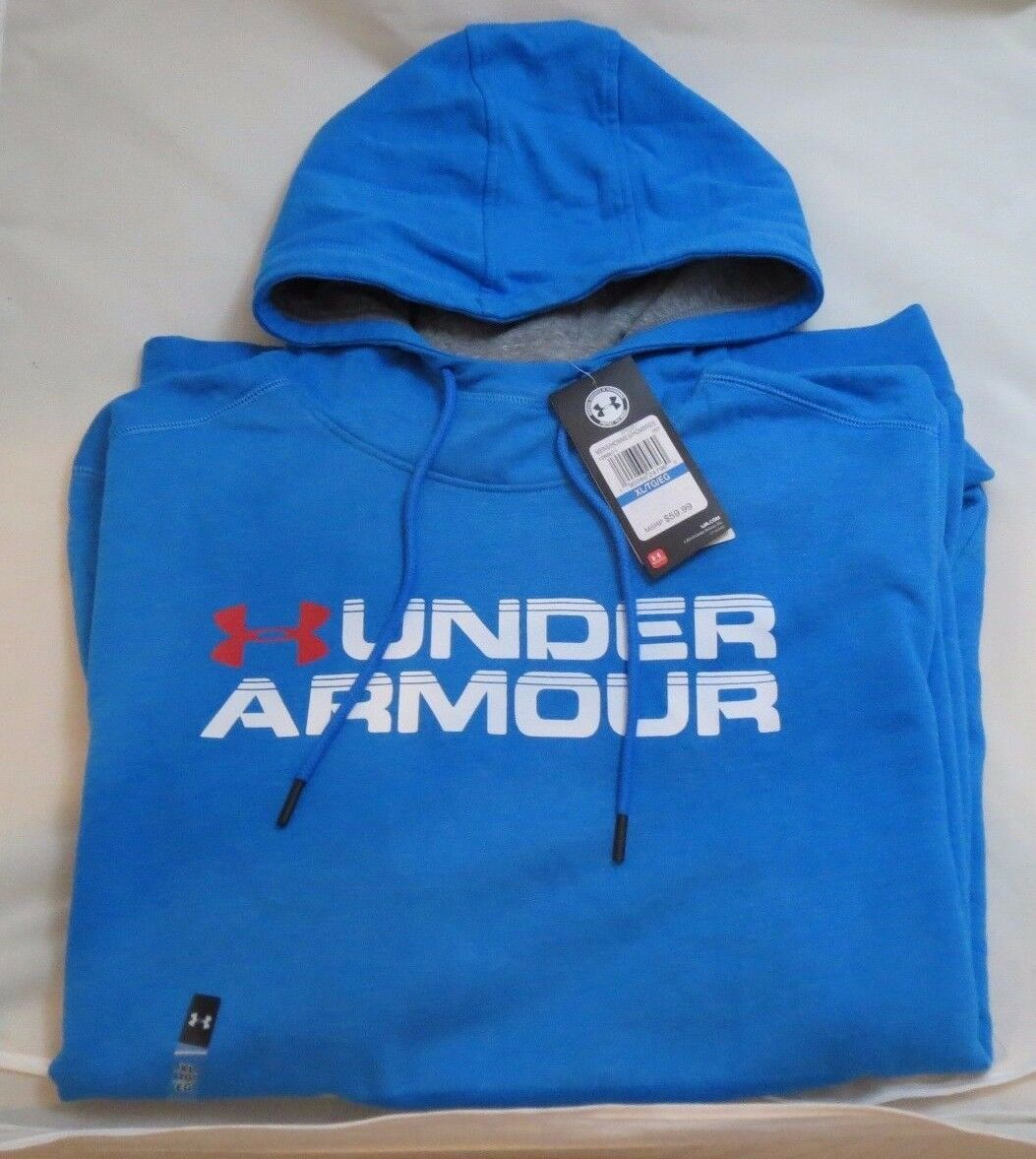UNDER ARMOUR  XL Sportstyle Fleece Wordmark Blau Hoodie SweatShirt 1288671 787