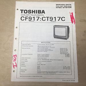 toshiba service manual for the cf917 cf917c color tv repair ebay rh ebay com Manual for Toshiba TV 43L511u18 Toshiba TV Manual Model 32L1400u
