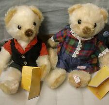 SIGIKID SAMMLERBÄREN Mohair-Bjavaären Bears Teddys Paar Stofftier RAR neuw.