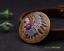Antique-Brass-Southeast-Ethnic-Indian-Head-Turquoise-Leathercraft-Belt-Conchos miniature 5