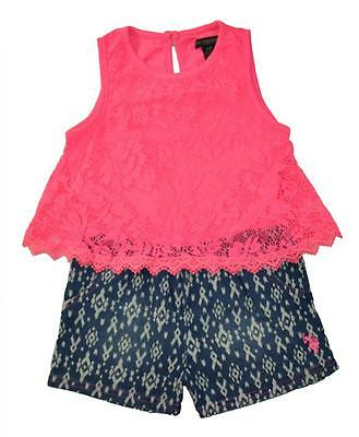 Pinkhouse Toddler//Little Girls Striped /& Floral Print Romper 2T 3T 4T 4 5//6 6X