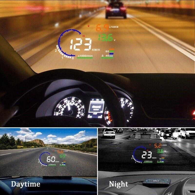 5.5'' LCD Car HUD Head Up Display OBD II