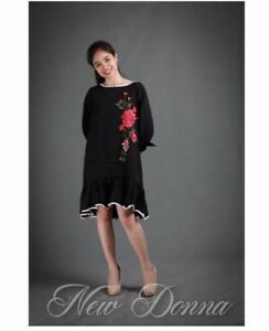 DRESS-EMBROIDERED-BLACK