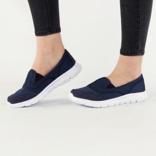 REEF Ladies Womens Elasticated Slip On Casual Comfort Trainers Navy Blue