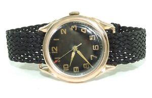 Kirovskie-Herren-Uhr-Gold-583er-14-Karat-Handaufzug