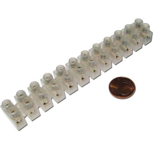 2 Leisten Lüsterklemmen 24 Pole 2,5-4,0mm² Lüsterklemme