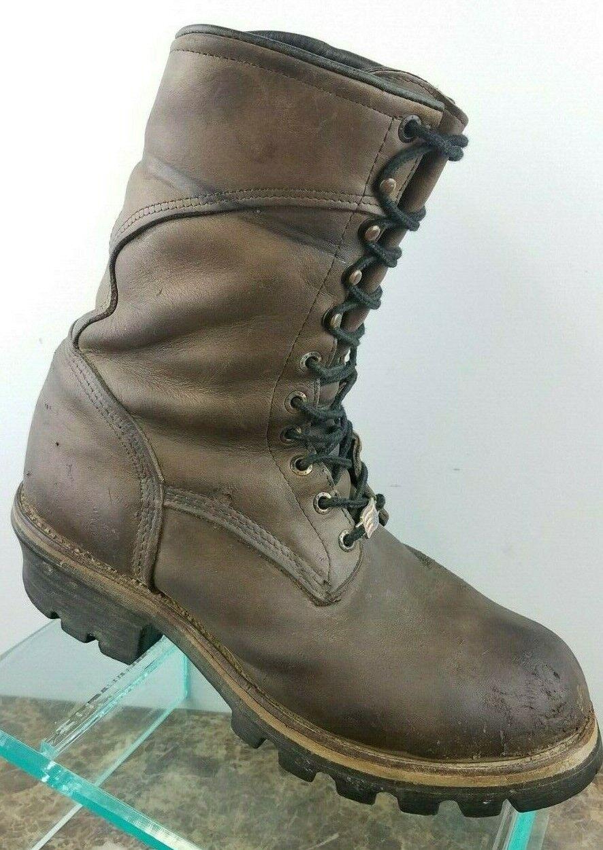 rojo Wing registrador Marrón Cuero Gore Tex Con Cordones Puntera De Acero Trabajo botas Hombres 10 EE. UU.