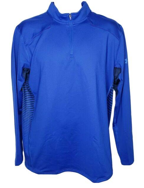 Under Armour Sz XL Mens Coldgear Reactor 1/4 Zip Fitted Mock Shirt 1298253 NWT