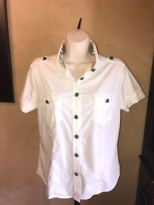 comprar genuino rendimiento superior gran colección Burberry Brit Para Mujer Camisa Blusa De Algodón Cuello ...