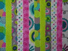 24 JELLY ROLL STRIPS 100% COTTON PATCHWORK FABRIC LINDSEY 22 INCH LONG