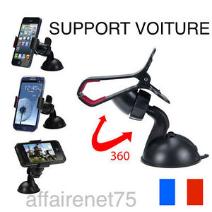 support t l phone portable fixation voiture universel au volant smartphone gps ebay. Black Bedroom Furniture Sets. Home Design Ideas