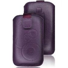 Funda PASADOR CINTURON iPHONE 5 4S 4 3GS 3G Cuero MORADA Xi clip MORADO LILA