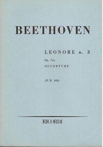 Beethoven-Leonora-N-3-op-72a-Overture-Musiknoten-Taschenkalender-Erinnerungen