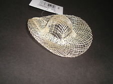 """WHOLESALE LOT 36 NEW 3"""" BRIM  Barbie size SINAMAY Natural HATS NEW in Pack F/S"""