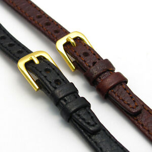 Ladies-Open-Ended-Leather-Watch-Strap-for-Vintage-Watch-Choice-of-Colours-D003
