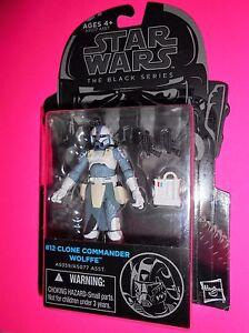 Star Wars Black 3.75 Inch Figure Clone Commander Wolffe #12 Clone Wars