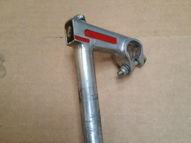 MTB bicycle stem 21.1mm steerer wedge 25.4mm handlebar clamp steel Black
