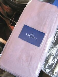 NEW-Set-of-4-Villeroy-and-Boch-Lilac-Purple-100-LINEN-Table-Linens-Napkins