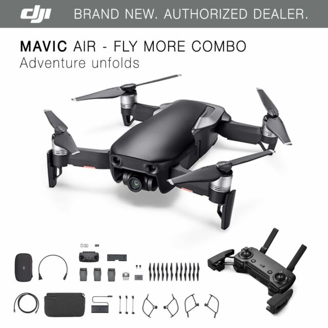 dc80637bd51 DJI Mavic Air Fly More Combo Camera Drone - Onyx Black for sale ...