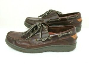 Sperry-Top-Sider-Men-039-s-US-8-5M-Classic-Brown-Leather-Lace-Boat-Shoes-2-Eye