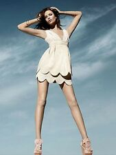 Rare H&M Conscious Collection Cream Jacquard Tulip Evening Occasion Dress 12