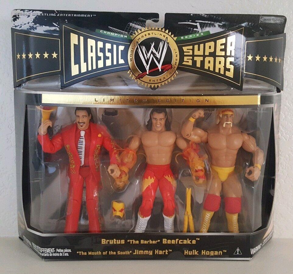 WWE Classic Superstars BRUTUS BEEFCAKE HULK HOGAN JIMMY HART Set 3 Jakks Pacific