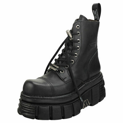 New Rock Combat Boots Unisex Black