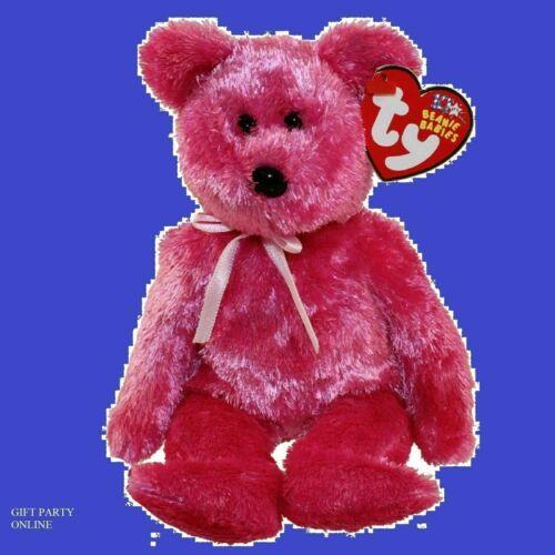 TY BEANIE BABY  SHERBET the Bear Raspberry Version Plush BUY NOW
