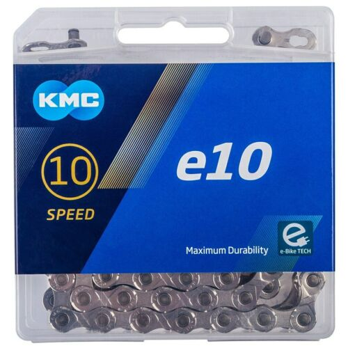 "KMC 10-speed e10 E-Bike Chain 122L 1//2/""x11//128/"" Silver"