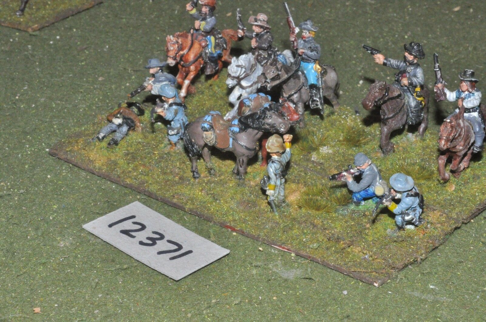 25mm ACW   confederate - american civil war cavalry - cav (12371)