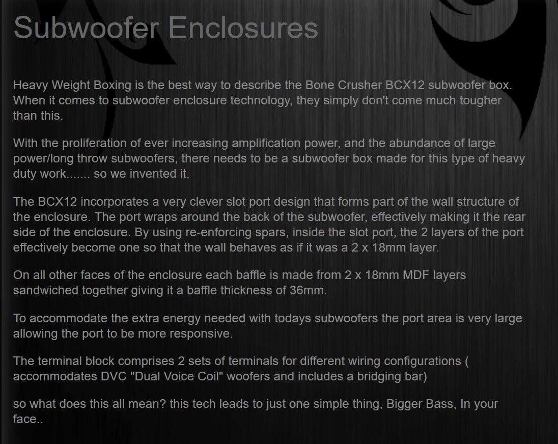 Details about US AUDIO BCX12 PREMIUM 12