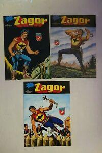 Zagor 3 stampe delle copertine dei primi numeri di Zagor edizione