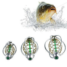 4pc Fishing Tackle Cage In Line Pellet Feeders Quick Change Lure Basket