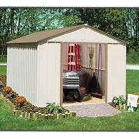 Garage Garden 10 X 11 Outdoor Storage Shed Backyard Metal Storage Tool Organized