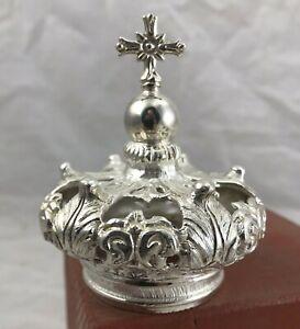 3,5 cm corona per santi imperiale crown ottone Madonna rosario Maria statua ihs