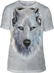 The Mountain Unisex Adult Canadian White Wolf Animal T Shirt