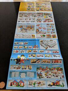 100% De Qualité Vintage Lego Brochures/catalogues (1978) (ville, Train, Château Etc)-afficher Le Titre D'origine Forme éLéGante
