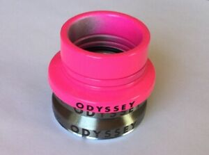 """ODYSSEY CONICAL INTEGRATED 1-1//8/"""" HOT PINK BMX BICYCLE HEADSET"""