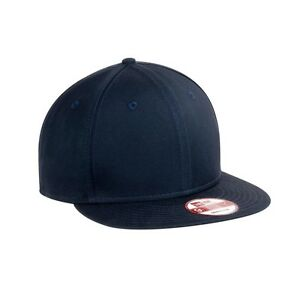2df46a97e6e 12 Custom Logo New Era NE400 9 Fifty Flat Bill Snap Back Hat Cap  17 ...