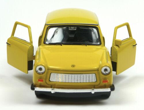 Jubiläumsedition 50 Jahre Trabant 601 Modellauto 11cm WELLY Sonderfarbe gelb