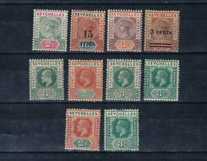 SEYCHELLES BRITISH C. 1890-1900,1893,1901,1903,1912-1932 MH LOT SG# in Listing