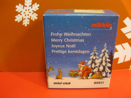 MÄRKLIN 80611 miniclub Weihnachtswagen Spur Z NEU