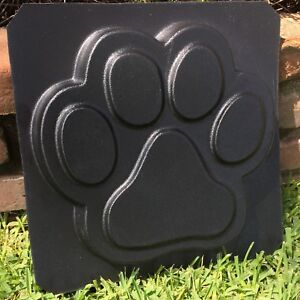 """Details about Large Dog Paw Print Stepping Stone Plastic Mold Concrete  Cement 11"""" Wide x 1 75"""""""