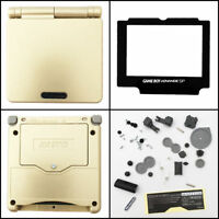 Gba Sp Game Boy Advance Sp Replacement Housing Shell Screen Gold (lot Of 5)