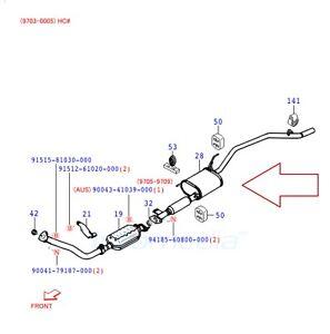 Exhaust Mufflers, Silencer Rear Daihatsu Terios I