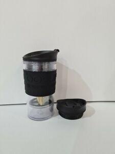 BODUM TRAVEL PRESS COFFEE MUG, GLASS,COMPACT, EXTRA LID