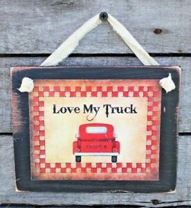 Country-Primitive-Love-My-Truck-Rustic-Handmade-Wooden-Sign