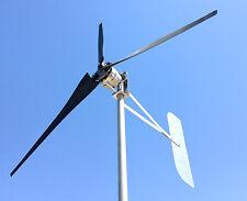 Wind Turbine rol 48DC  2Wire 3.75 kWh Generator 3 KT Black Blades USED & REFBD.