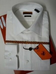 Rayas de blanco Enzo 33 vestir de 32 para 826635018889 M de Camisa 15 tono hombre Italia Cuffs Barrel 0dgvd4q